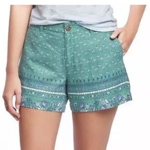 Old Navy Linen Blend Printed Mid-Rise Shorts